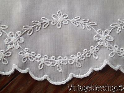 "Lovely Vintage Hand Embroidered Tambour Tablecloth Topper 43"" x 42"""