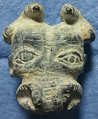 LAC Oriental Greek, Asia Minor, Stone Amulet, in shape of Bull Head IV-III cent