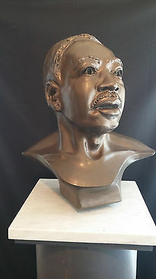 Portrait bust of PhD Martin Luther King Jr.