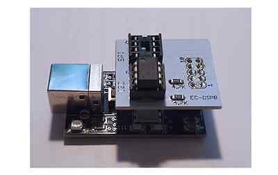 SPI and I2C Flash EEPROM Memory Programmer with DIP8 Socket Adapter (USB 2.0)