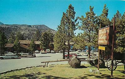 JUNE LAKE, CA   Roadside  BOULDER LODGE  ca 1970s   Mono County   Postcard