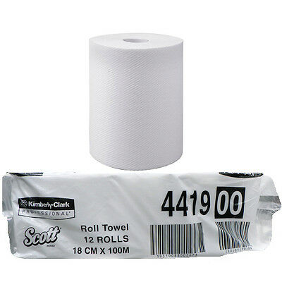Kimberly Clark Scott® Hand Towel Roll 100 Metres x 12 Rolls (4419)