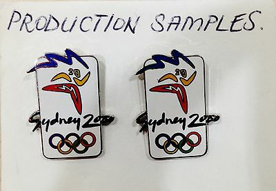 Rare Samples - Set 2 White Logo Sydney 2000 Olympic Games Pins (#39)