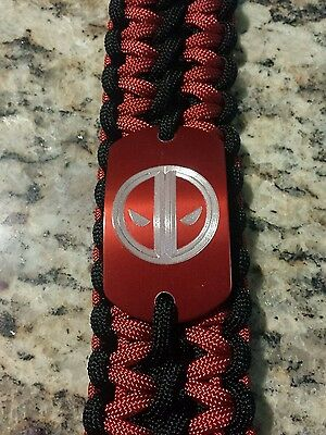 Dead Pool Paracord Gamer Bracelet- handmade- para cord DeadPool