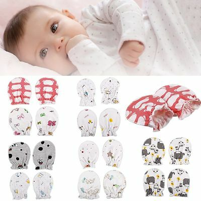 4/8Pcs Newborn Baby Infant Anti Scratch Cotton Mittens Gloves Boy Girl Handguard
