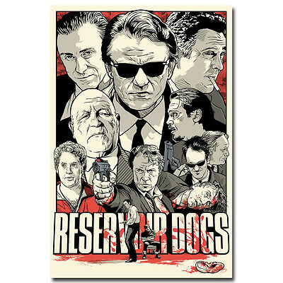 Reservoir Dogs Classic Film Movie Silk Poster 12x18 20x30inch