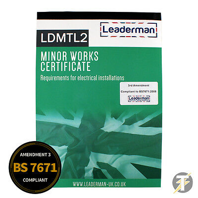 Leaderman LDMTL2 Minor Works Certificate Test Book - Electrical 17th Edition
