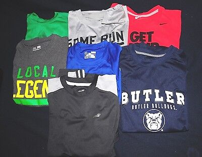 Under Armour NIKE AVIA Adidas Colosseum Youth Large Athletic Shirt Lot