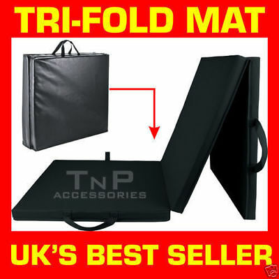Tri Fold Folding Trifold Mat Exercise Gym Fitness Floor Mats Physio Pilates TNP