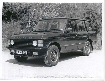 Range Rover Reg. J194 SKV x 2 Period b/w Press photographs front & rear view