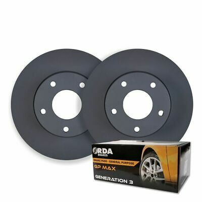 RDA REAR DISC BRAKE ROTORS + BRAKE PADS for Honda Accord Euro CL 2.4L 2003-2007
