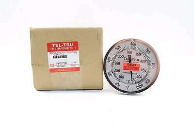 New Tel-Tru Aa575R Dial Thermometer 200-1000F 5 In 1/2 In Npt D528888