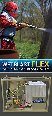 Clemco Wetblast FLEX All-in-one Dustless Blasting, Complete System