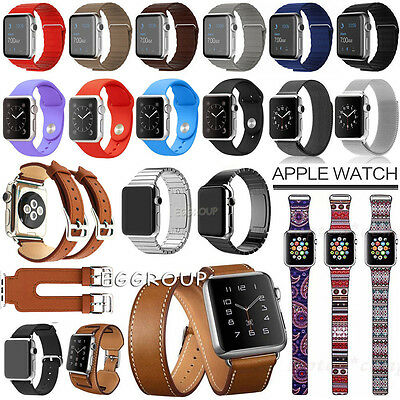 For Apple Watch 2 1 Genuine Leather Stainless Steel Milanese Magnetic Watch Band