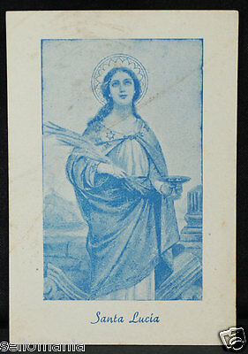 Old Blessed Saint Lucy Of Syracuse Holy Card Year Andachtsbild Santini     Cc918