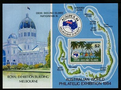 Cocos (Keeling) Islands 1984 Ausipex MS  MNH