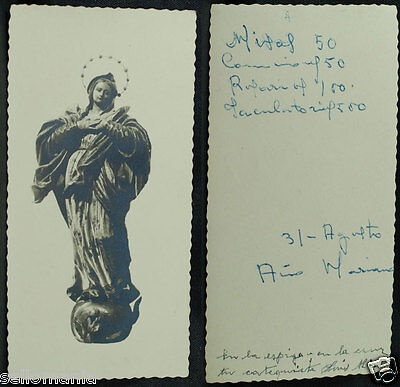 Old Blessed Virgin Mary Holy Card Andachtsbild Santini Estampa       Cc935