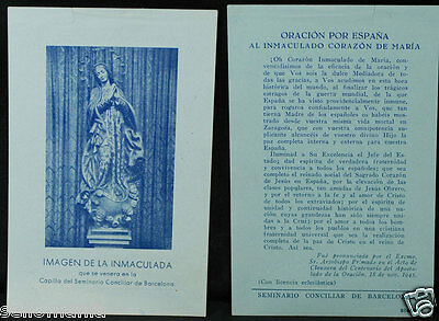 Old Blessed Immaculate Heart Of Mary Holy Card Andachtsbild Santini        Cc948