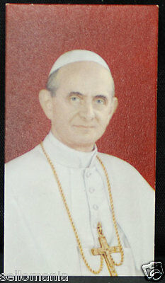 Old Blessed Pope Paul Vi Holy Card Andachtsbild Santini Estampa            Cc953