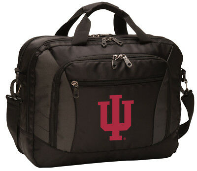 Indiana University Laptop Bag IU Computer Bags Messenger LOADED With POCKETS!