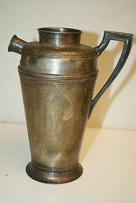 Vintage Art Deco Silver Plated Cocktail Mixer Water Pitcher RARE