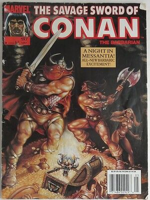 1992 The Savage Sword Of Conan #197    Gvg    (Inv3049)