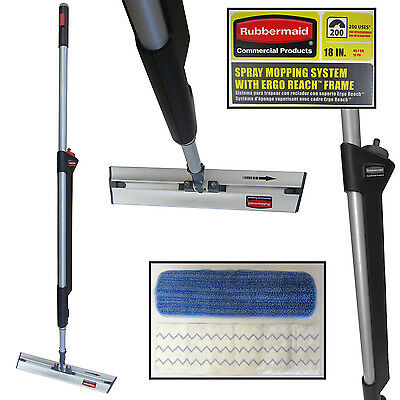 Rubbermaid Commercial Products Ergo Reach Pulse 1887488 Flat Mop Kit 18""
