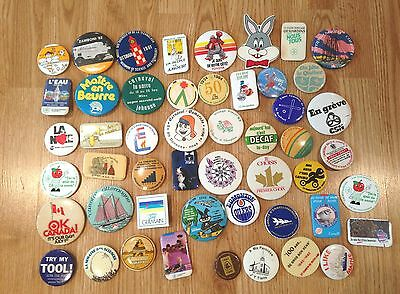 VARIOUS  ** Buttons & Pins / Macarons ** LOT #3 of 50x ** Vintage **