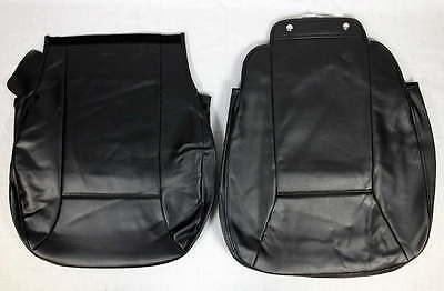 Set 2 Jazzy Select Elite 18x18 Wheelchair Scooter Seat Back Covers Black Vinyl