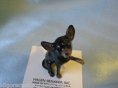 Hagen Renaker Dog Large Chihuahua Black Figurine Miniature 1019-1 Porcelain