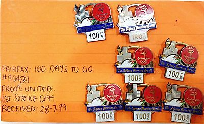 Rare Samples - Set 7 Fairfax 100 Days To Go Sydney 2000 Olympic Games Pins (#78)
