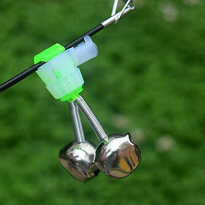 10 PCS Sea Fishing Rod Bell Accessories Tip Bite Lure Alarm Double Bell Ring