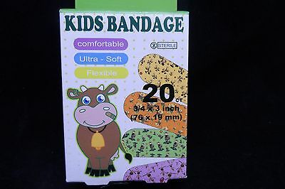 40 Assorted Childs Bandaids - Free Postage - 56X19Mm - Washproof