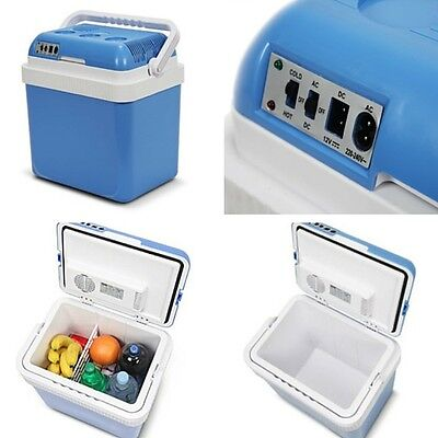 Cool Box Cooler Electric Portable 24L Camping Thermos Fridge Food Insulated Bag