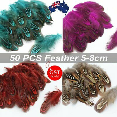 50pcs Natural Colour Pheasant Feathers 5-8cm DIY Wedding Craft Party Decoration