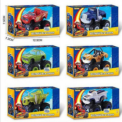 6Pcs Blaze and the Monster Machines Vehicles-Blaze & Crusher & ZEG & PICKLE Toy