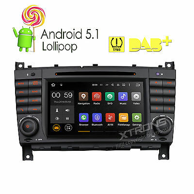 """Android 5.1 Radio 7"""" Stereo DVD Car GPS for Mercedes Benz C-W203 CLK-Class W209"""
