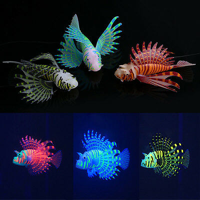 New Silicone Simulation Luminous Lionfish Aquarium Supplies Fish Tank Decoration