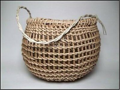 Traditional Native American Style Twined Gathering Basket Kit