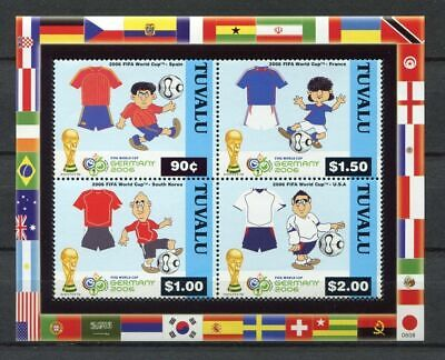 s7626) TUVALU 2002 MNH** WC Football'02 - CM Calcio S/S