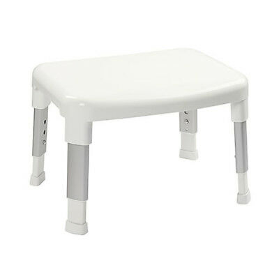 Adjustable Assisted Living Shower Stool Small White Non-Slip Mobility Disabled