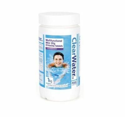 Clear Water 1kg Multi Function Chemical Chlorine 50 20g Tablet Swimming Pool Spa