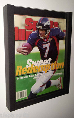 Magazine Sports Illustrated Display Frame Case Black Shadow Box : Bh02-Bl