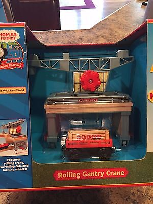 Thomas the Train Wooden Rolling Gantry Crane 99390 Learning Curve NRFB