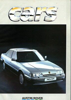 1987 Austin Rover Cars Factory Magazine Brochure my6309