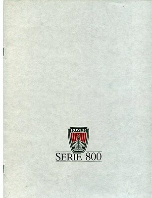 1987 Rover 800 Series Brochure French my6310