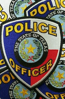 """Texas generic shouldet police patch 4.5"""" tall"""