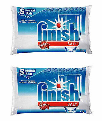 Finish Dishwasher Water Softener Salt For Bosch Dishwasher 2-Pack 8.8 Lbs New