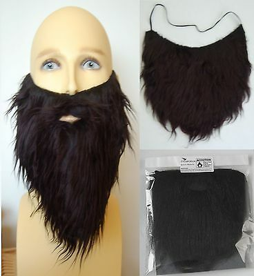Black Fancy Dress Beard, Quality Accessory. Pirate, Cowboy, Wizard, Hippy, Panto