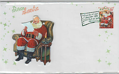 Stamp Australia 2009 Merry Christmas tree decoration on limited edition FDC